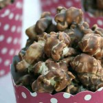 Chocolate Hazelnut Popcorn - Only 2 ingredients!