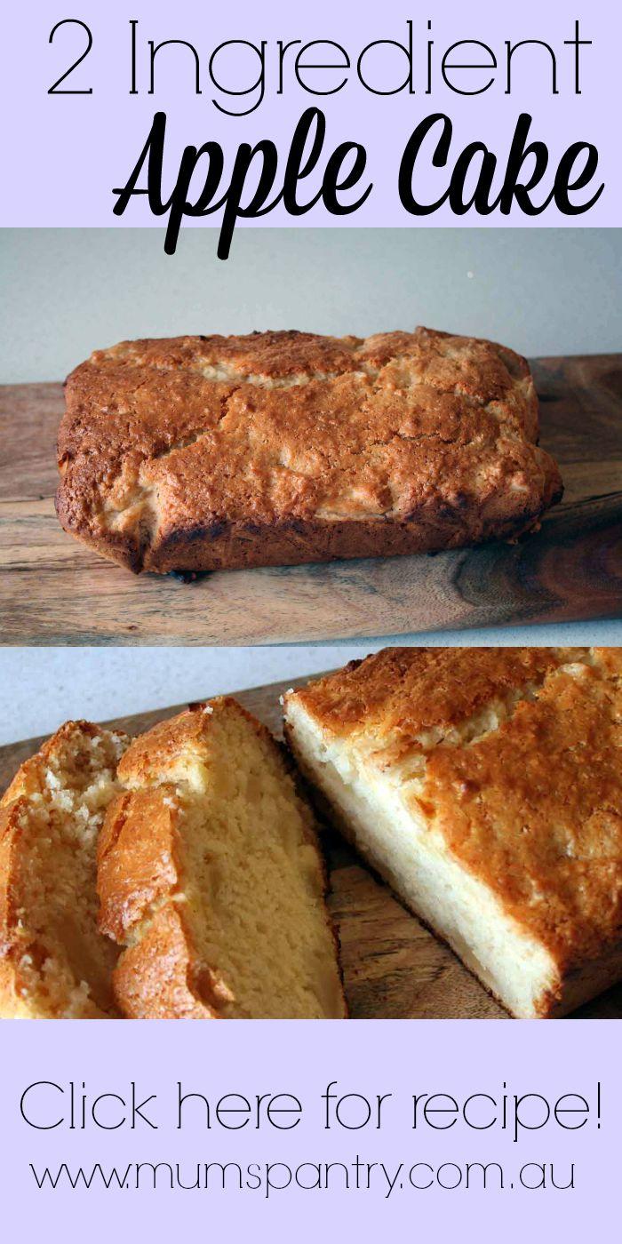 2 ingredient apple cake