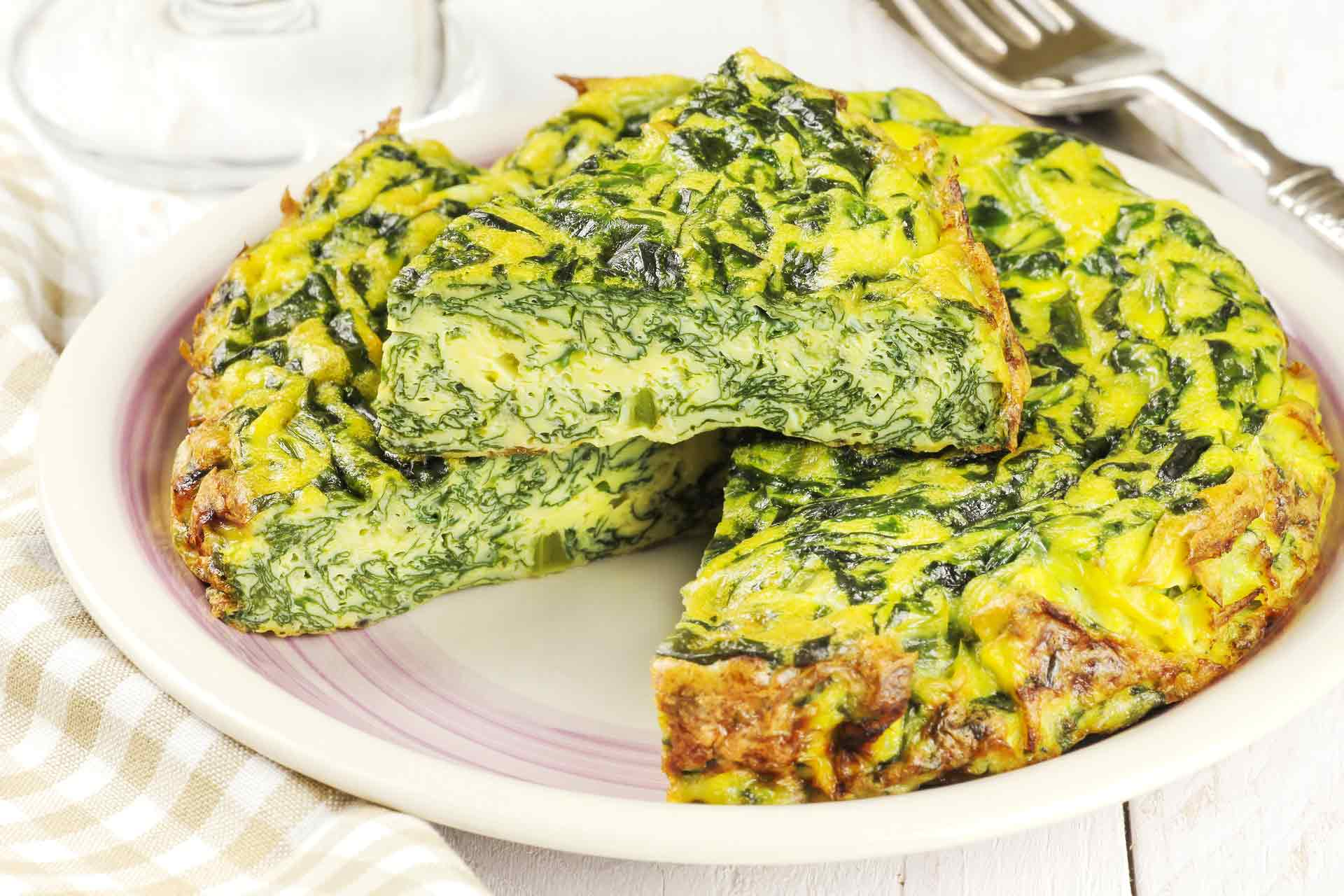 Home Made Italian Spinach Frittata - Mum's Pantry