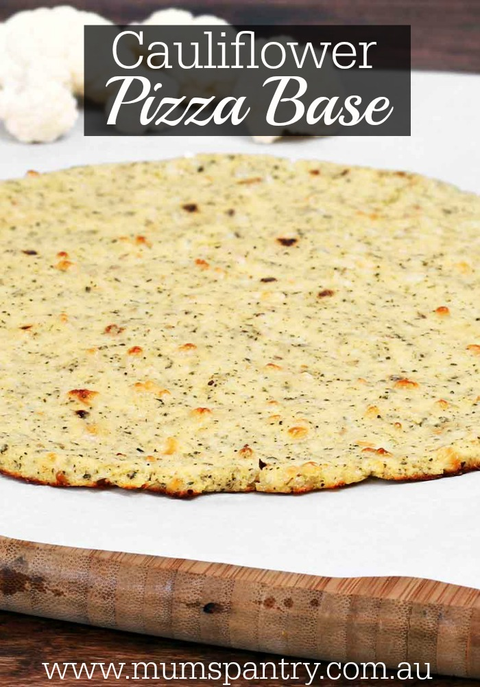 cauliflower pizza base