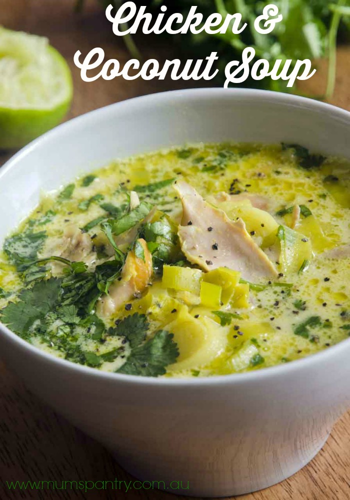 chicken and coconut soup