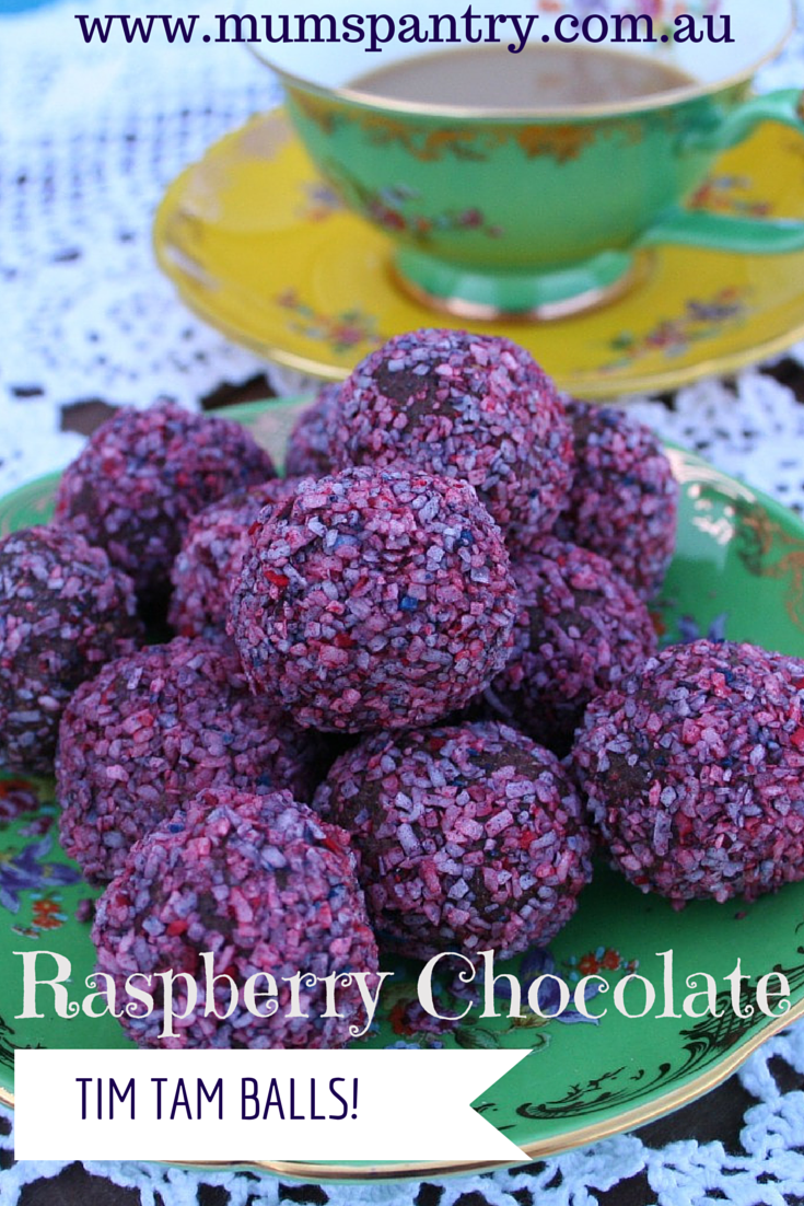 raspberry chocolate balls