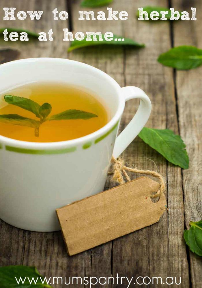 how to make herbal tea at home