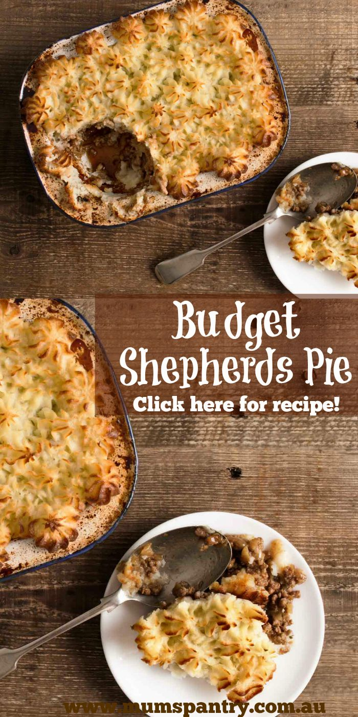 shepards pie on a budget
