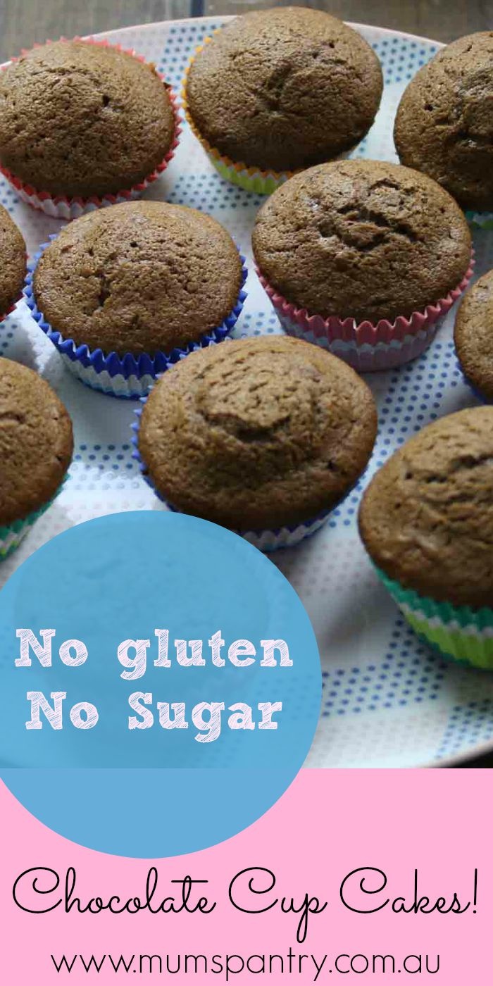 sugar and gluten free chocolate cup cakes