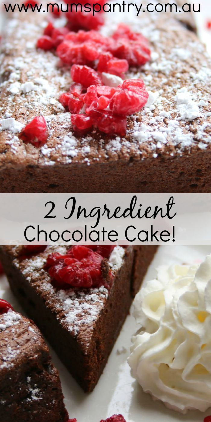 2 ingredient chocolate cake