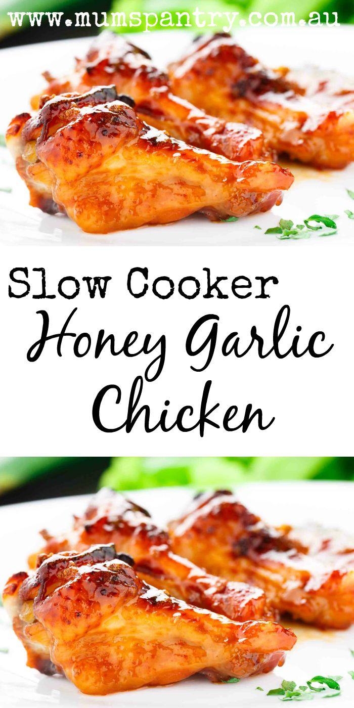slow cooker hiney garlic chicken
