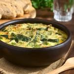 Cheesy Zucchini and Spinach Frittata