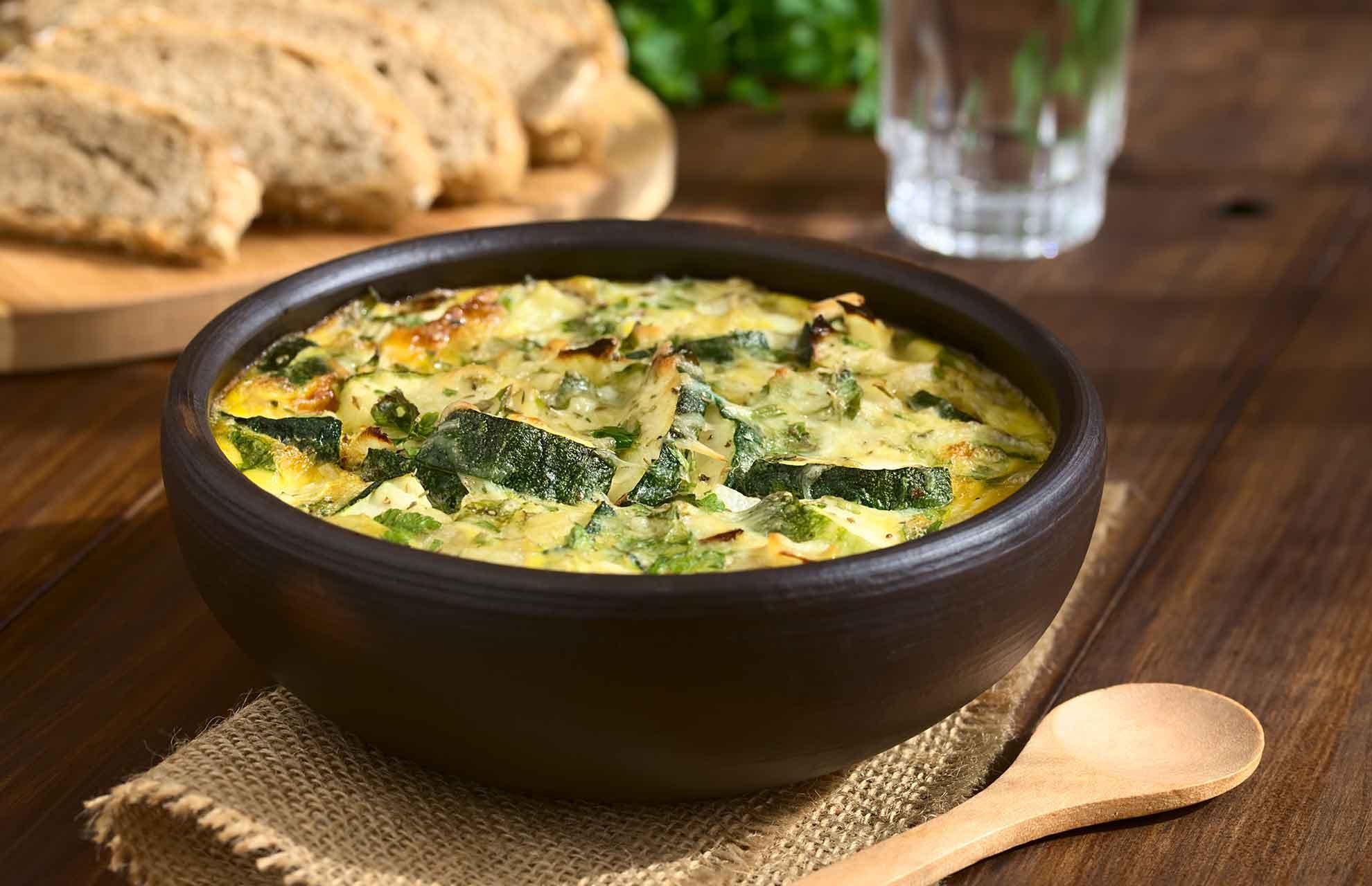 Cheesy Zucchini-Frittata