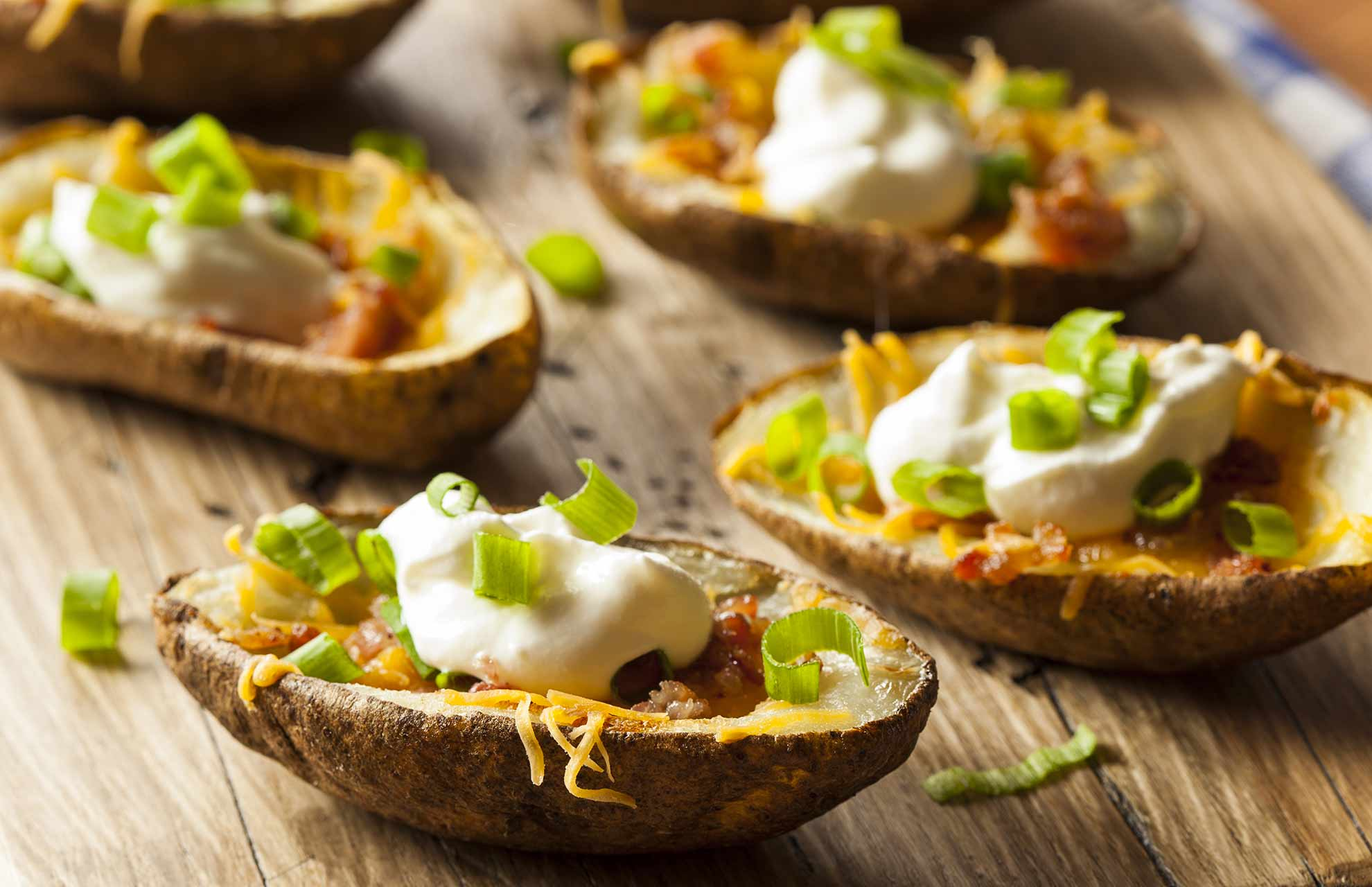 how to make loaded potato skins uk