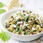 Eggplant Quinoa and Feta Salad