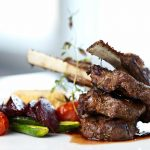 Balsamic Lamb Chops with Seasonal Vegetables