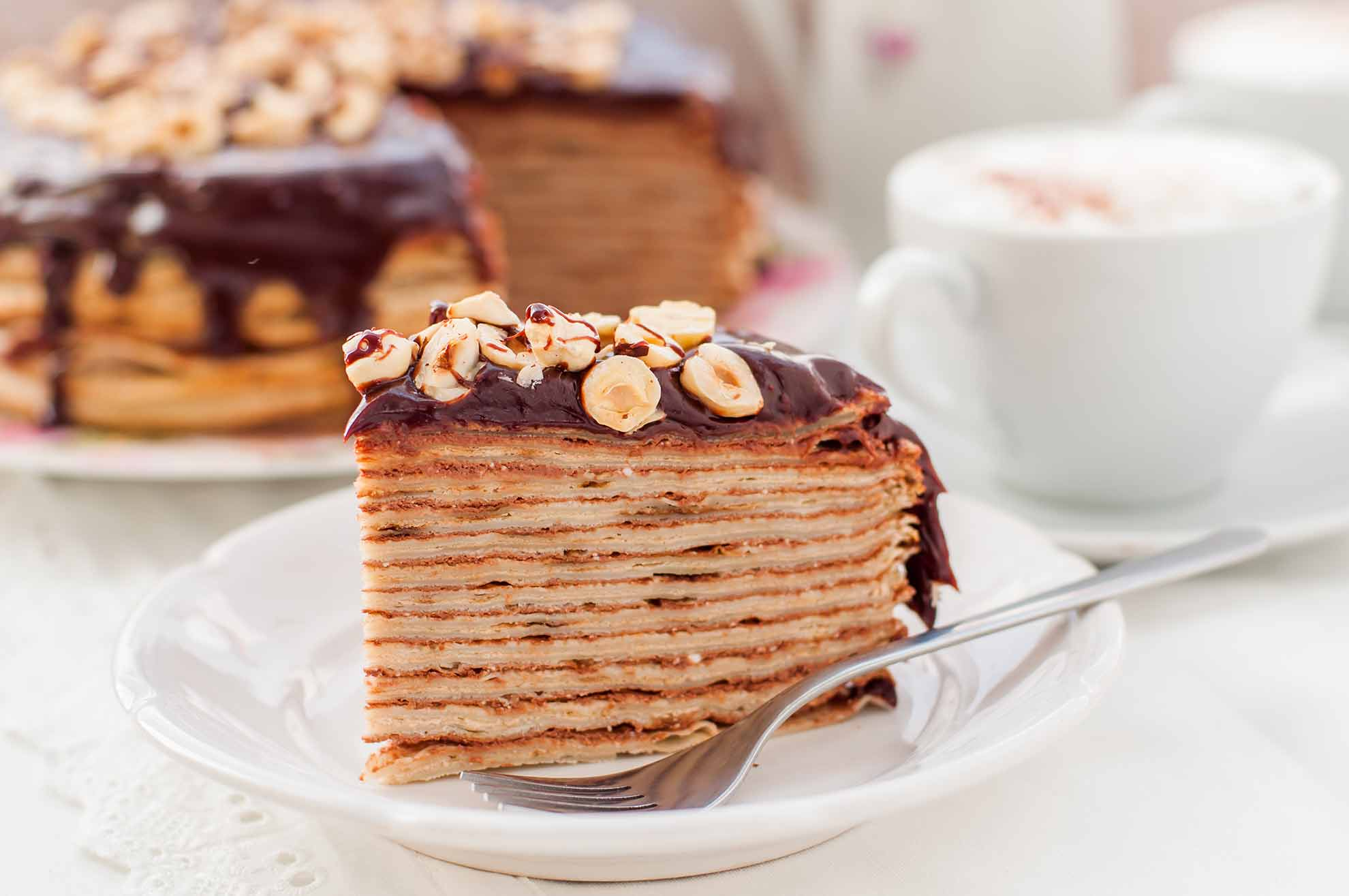 Crepe Cake With Nutella