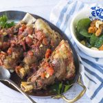 Slow Cooked Farmwood Lamb Shanks with a Warm Sweet Potato Salad