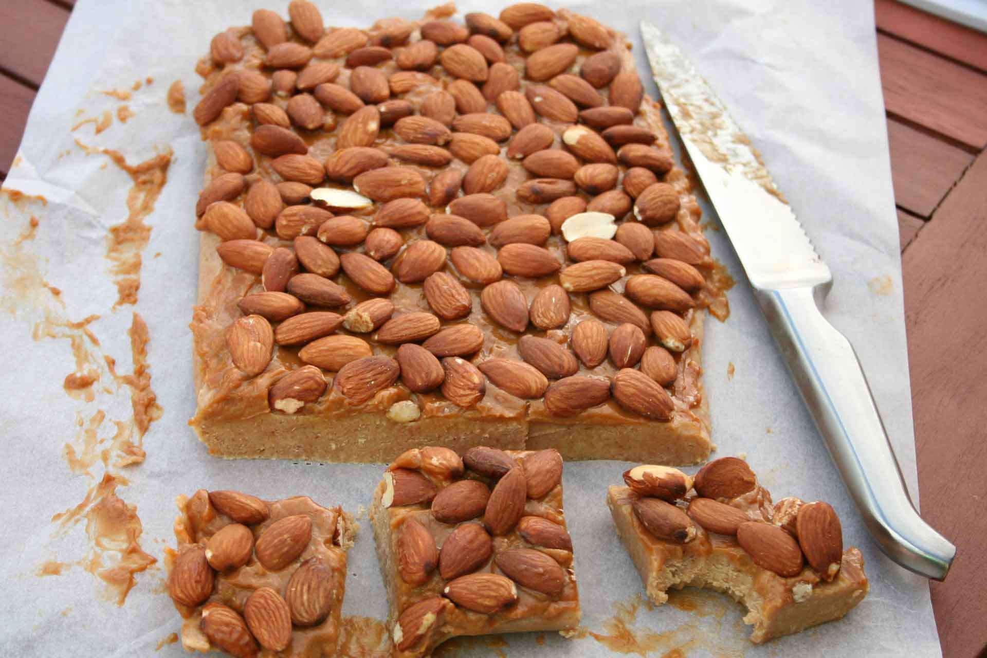 Almond-and-caramel-slice