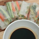 Healthy Chicken and Vegetable Rice Paper Rolls (< 35 Calories)