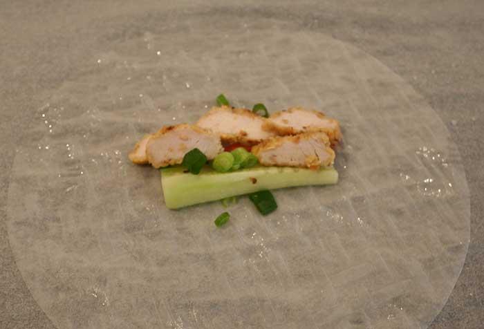 Chicken and Vegie Rice Paper Rolls