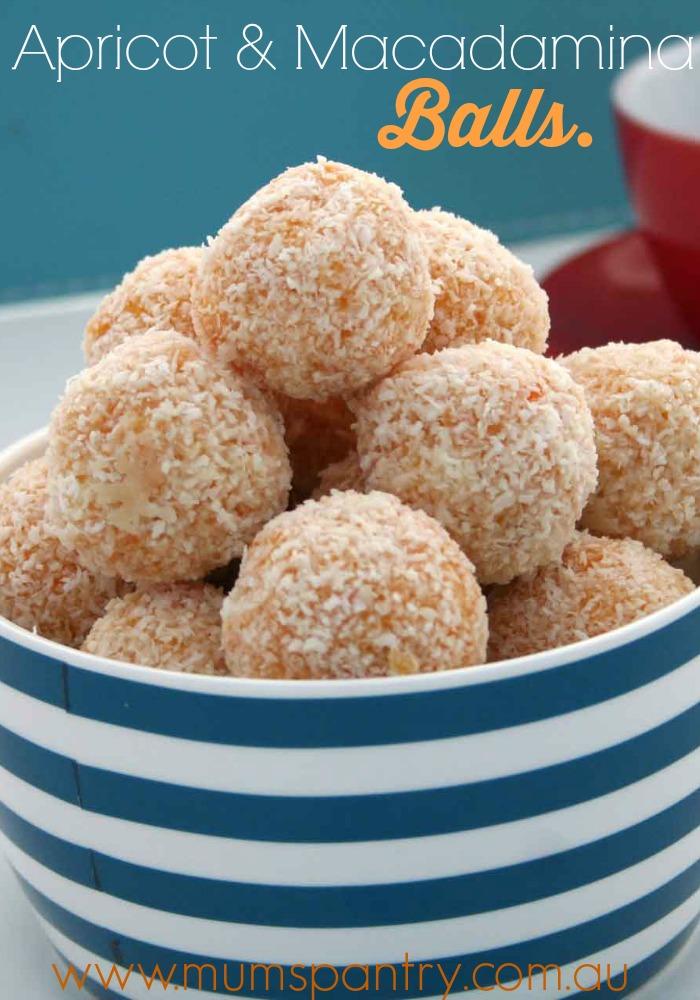 apricot and macadamina balls