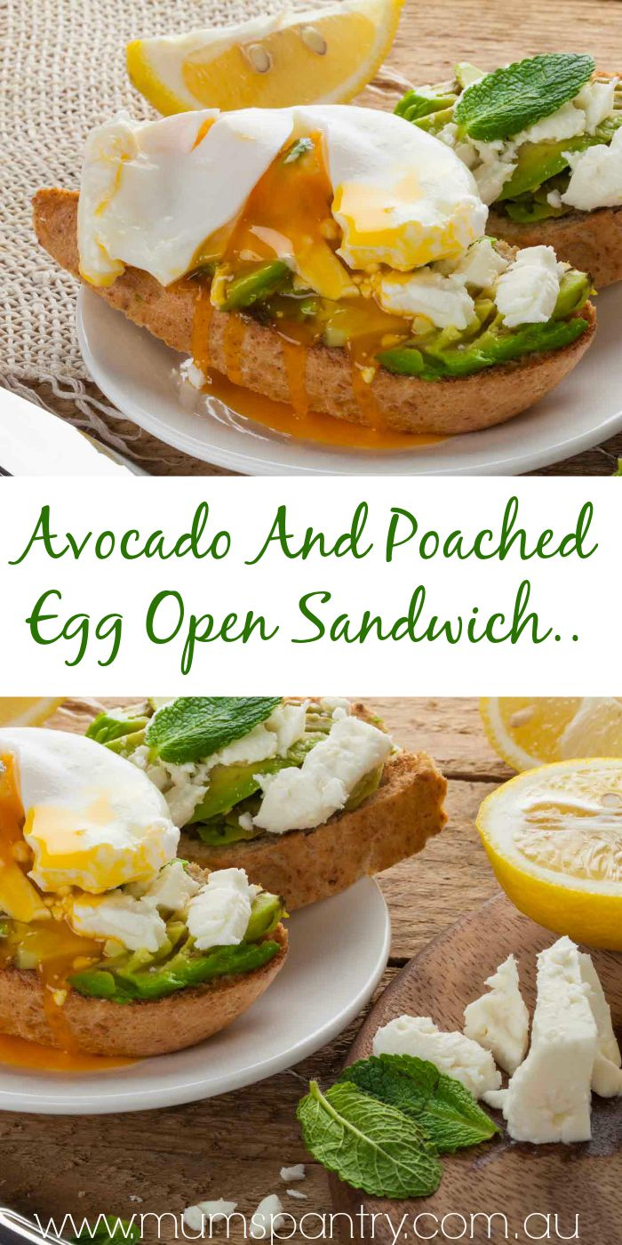 avocado and poached egg open sandwich