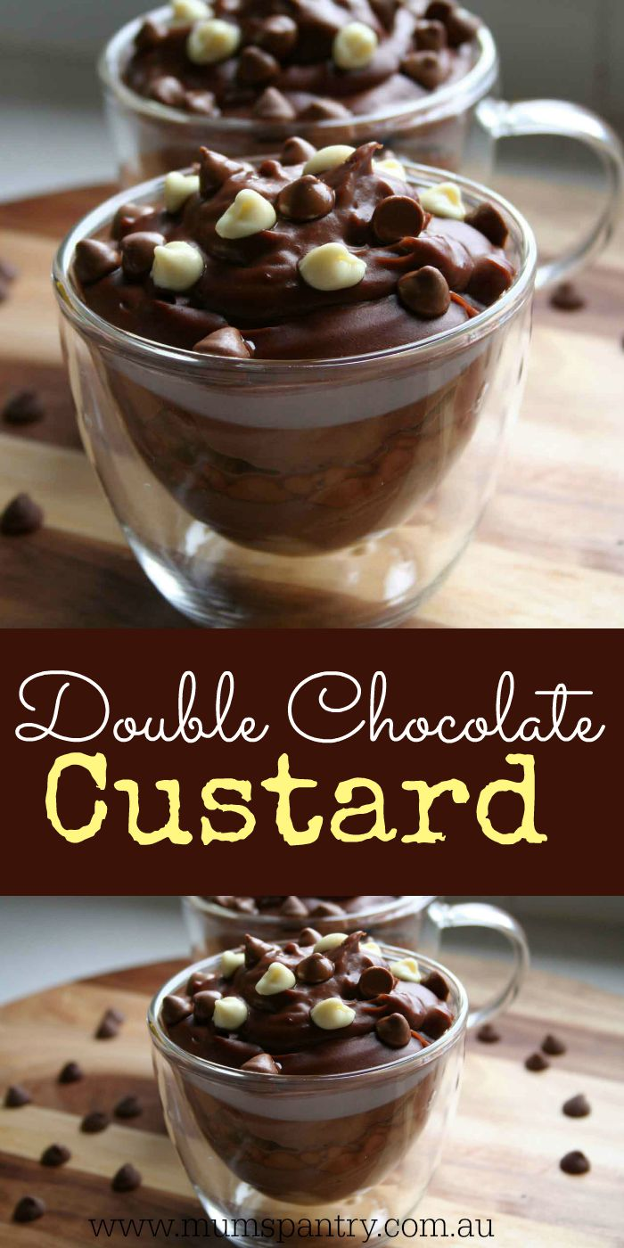double chocolate custard