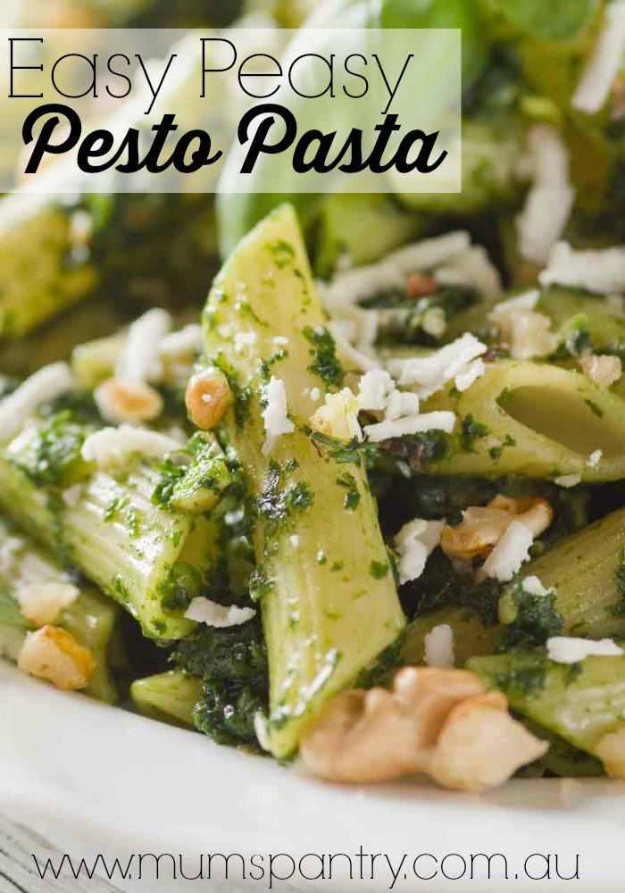 easy peasy pesto pasta