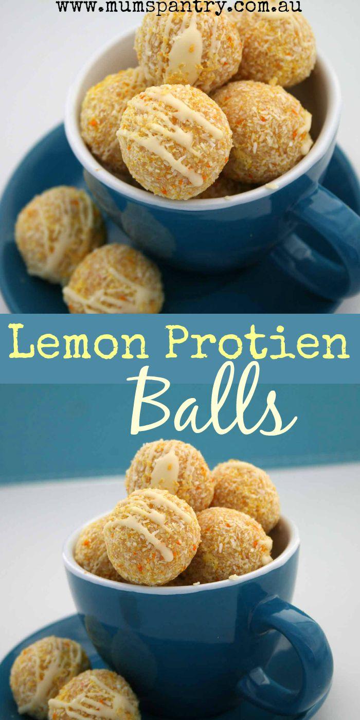 lemon protien balls