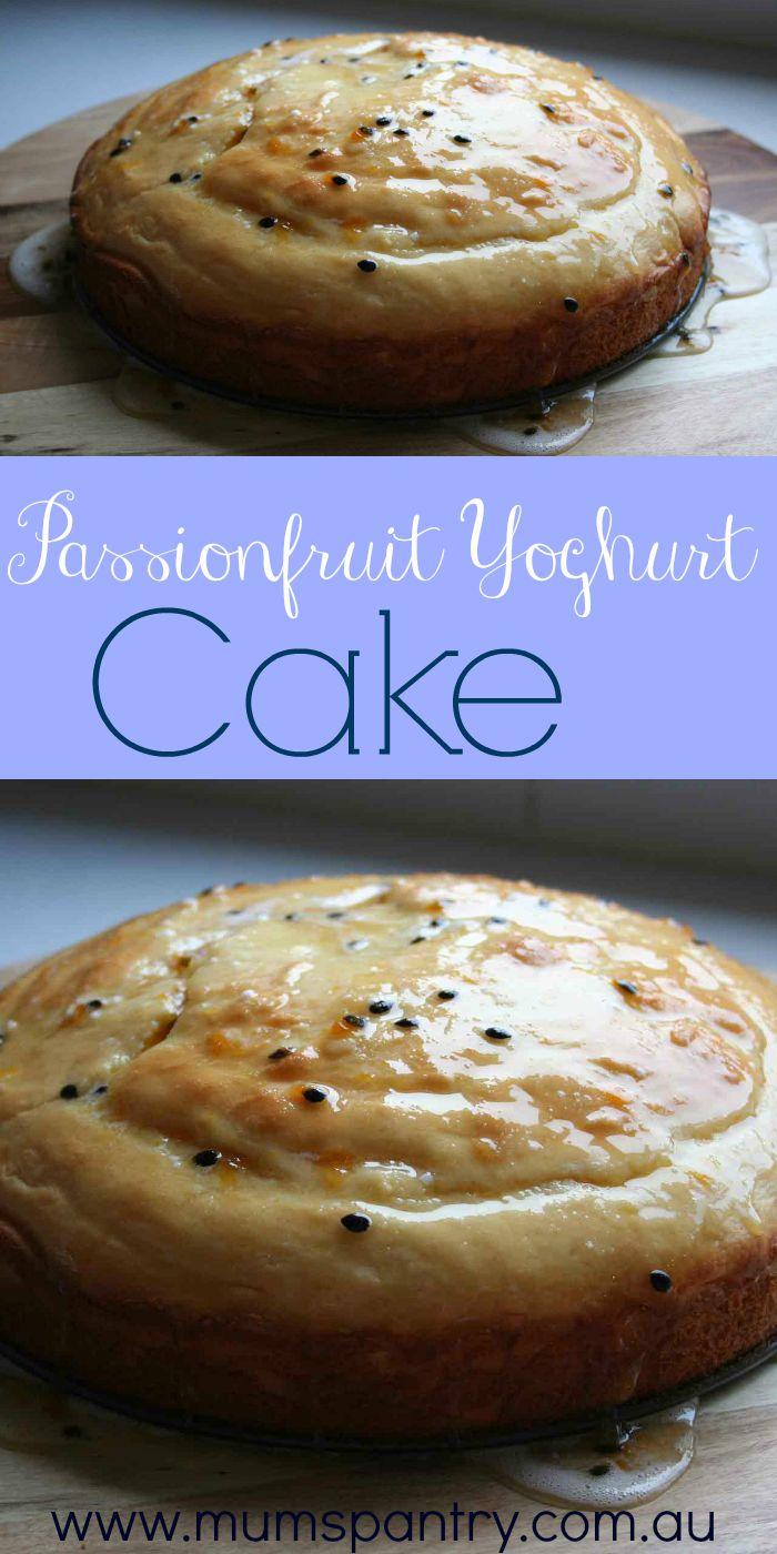 passionfruit yoghurt cake