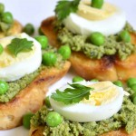 Smashed Peas And Egg Toasties