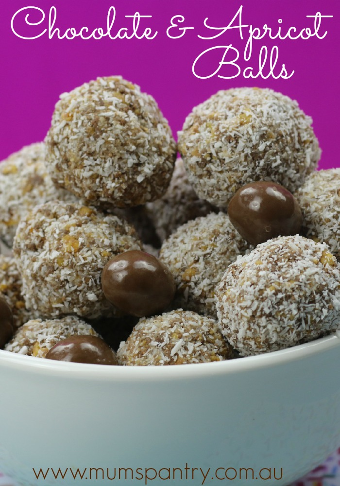 3 ingredient chocolate apricot balls