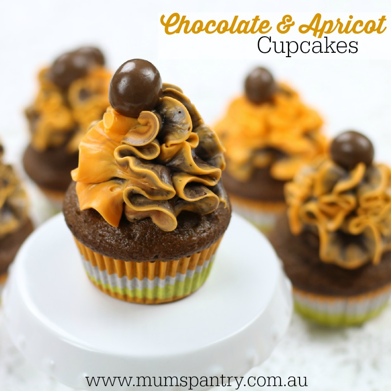 chocolate and apricot cupcakes