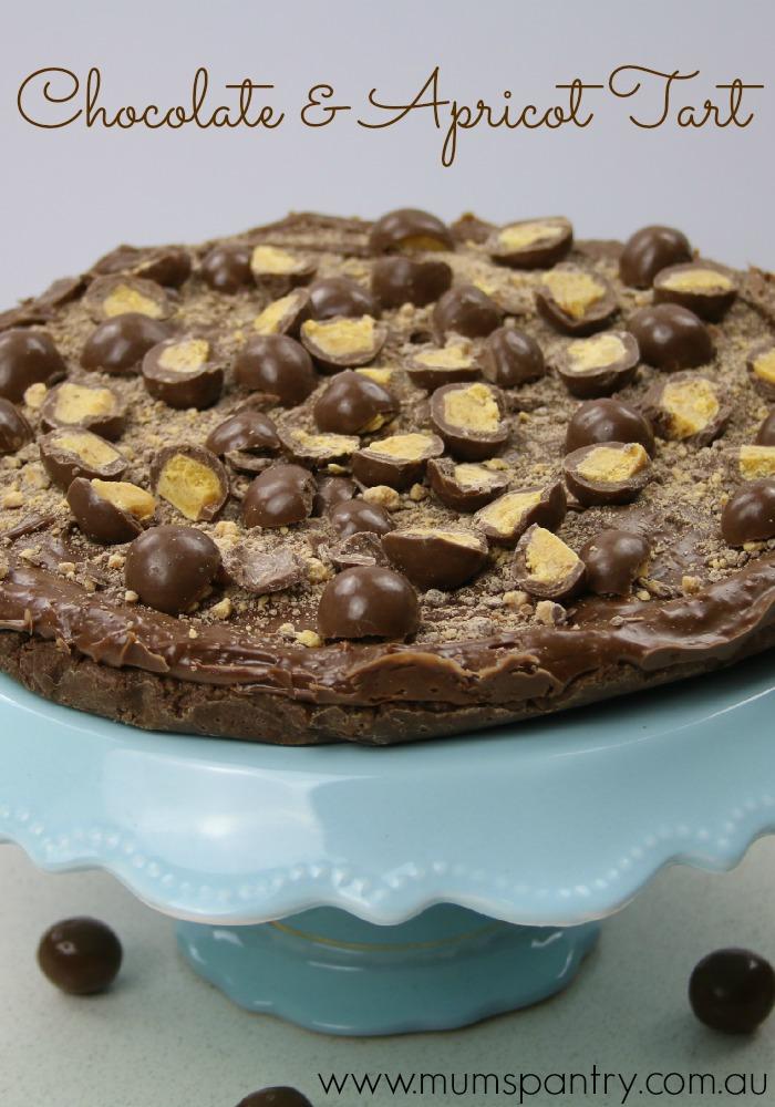 chocolate and apricot tart