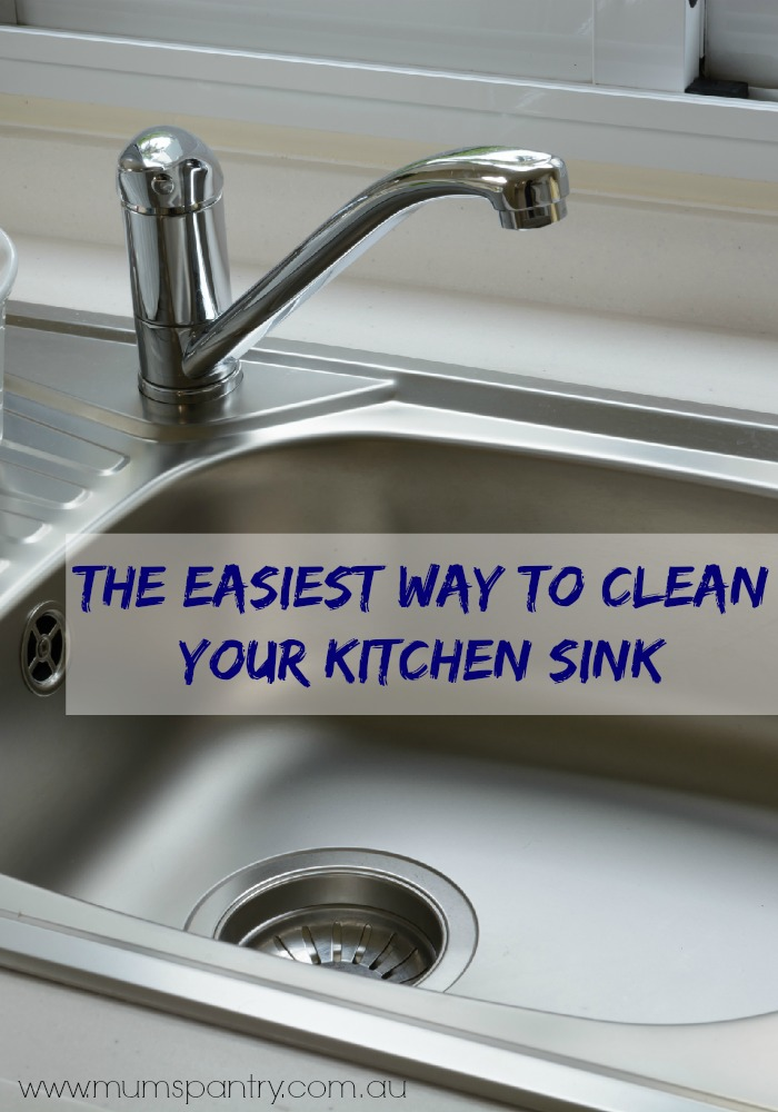 How To Clean Your Kitchen Sink - Mum Central