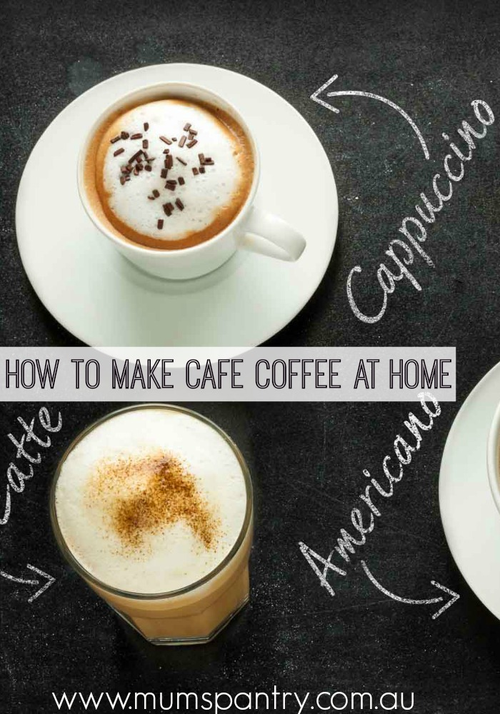 how to make cafe coffee at home