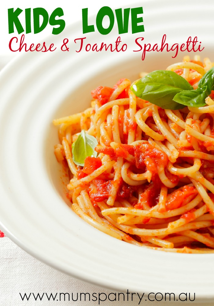 kids choice cheese and tomato spahgetti