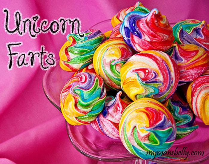 Rainbow-Meringues