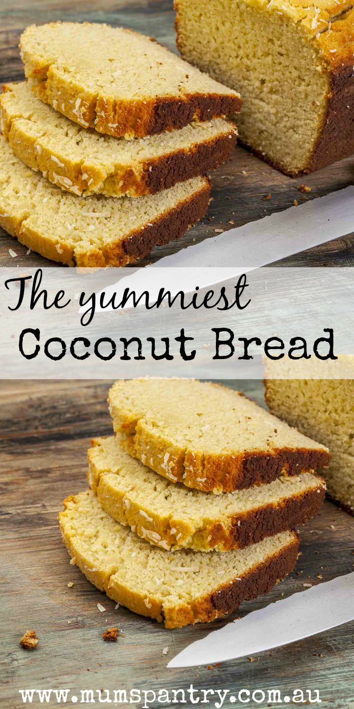 the yummiest coconut bread