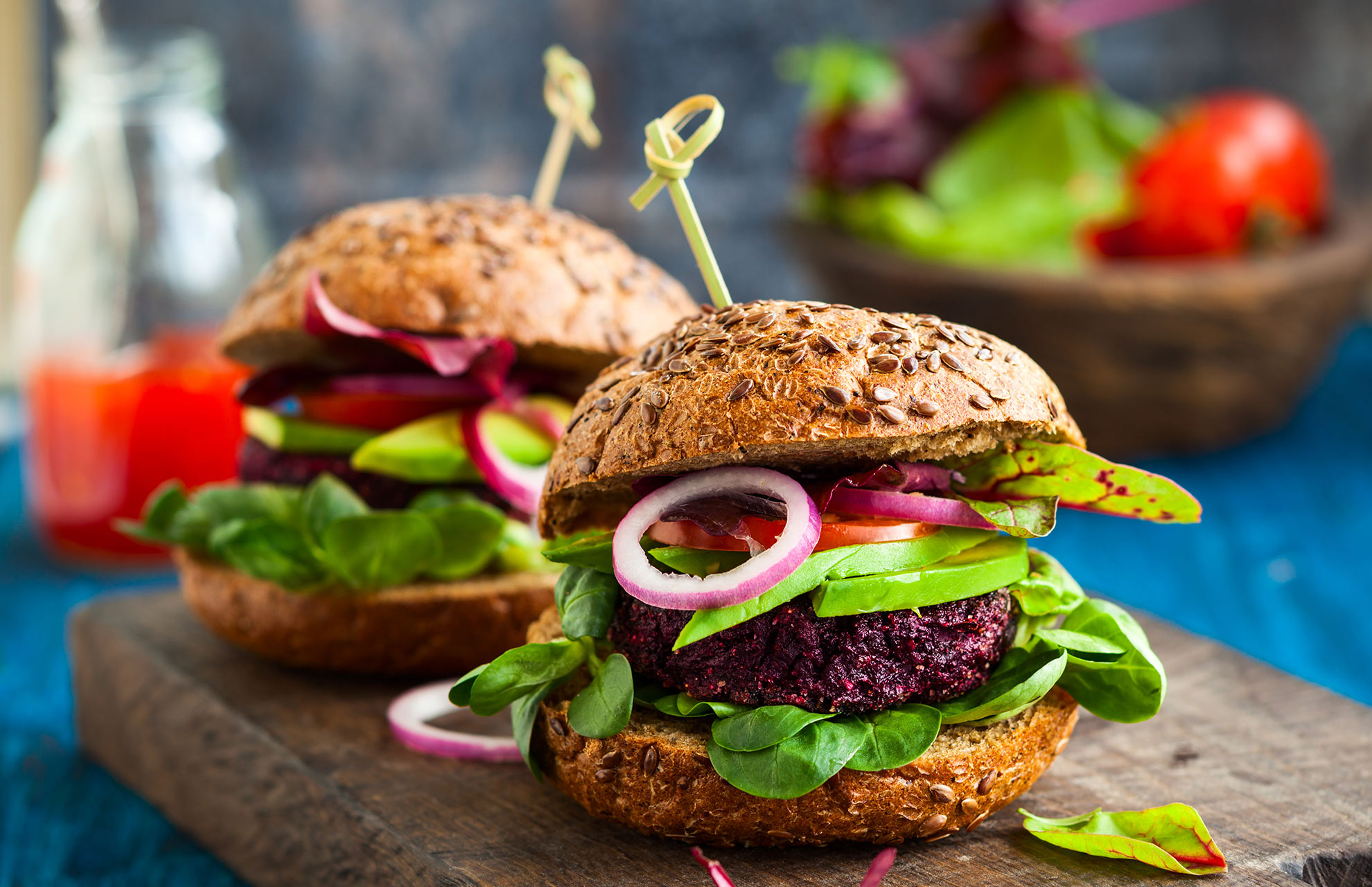 Beetroot and Quinoa Burgers
