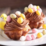 Easter cupcakes with chocolate buttercream!