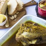 Curried Leg of Lamb with Crispy Roast Potatoes