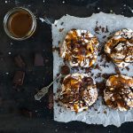 Dark Chocolate and Salted Caramel Baked Meringues