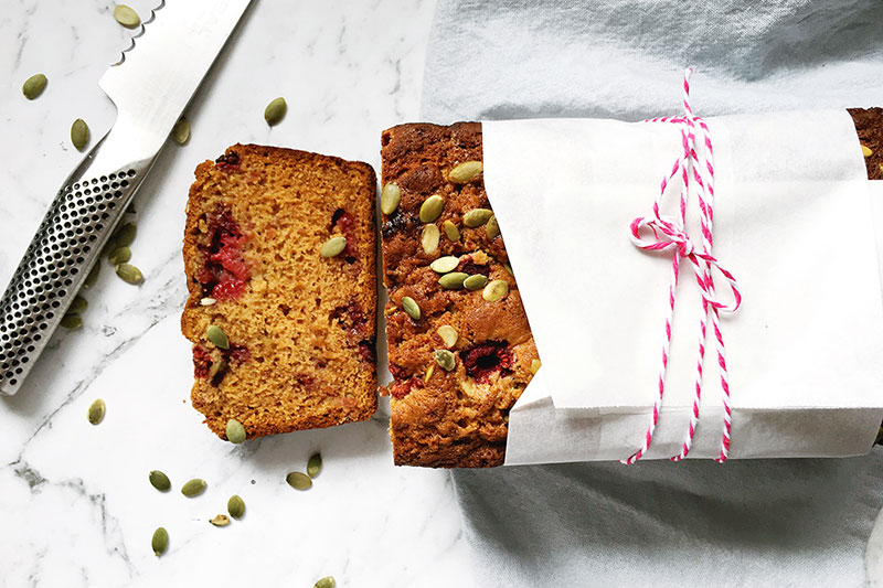 Raspberry banana and honey loaf recipe