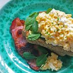 Creamy Feta Scrambled Eggs