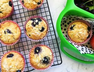 blueberry, yoghurt, muffins, lunch box