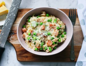 Bacon and Pea Risotto recipe