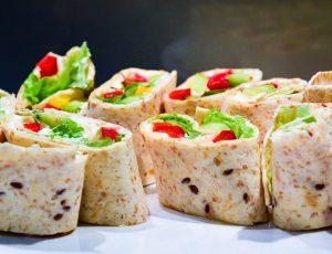 lunch box, sandwich, wraps