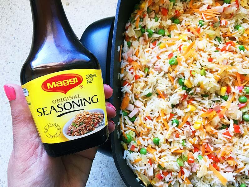 Maggi seasoning fried rice