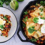 One Pan Vegetarian Enchiladas