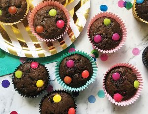 Polka dot choc chip muffin recipe