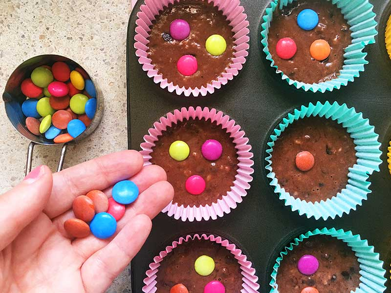 Polka-double-choc-chip-muffins recipe