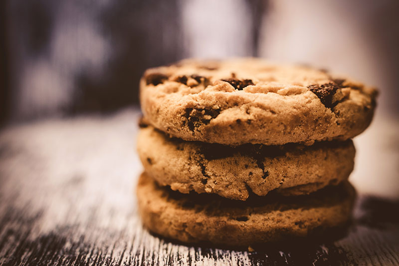 chocolate chip biscuits, cookies